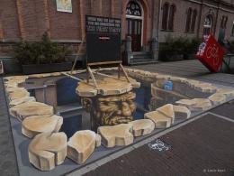 3D street painting Indiestad