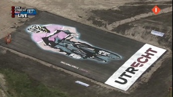 Giro d'Italia street painting