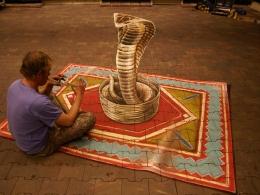 3D anamorphic cobra Intratuin Utrecht