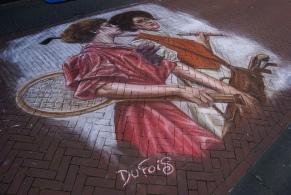 ISPF Rijssen 2010 street painting by Leon Keer