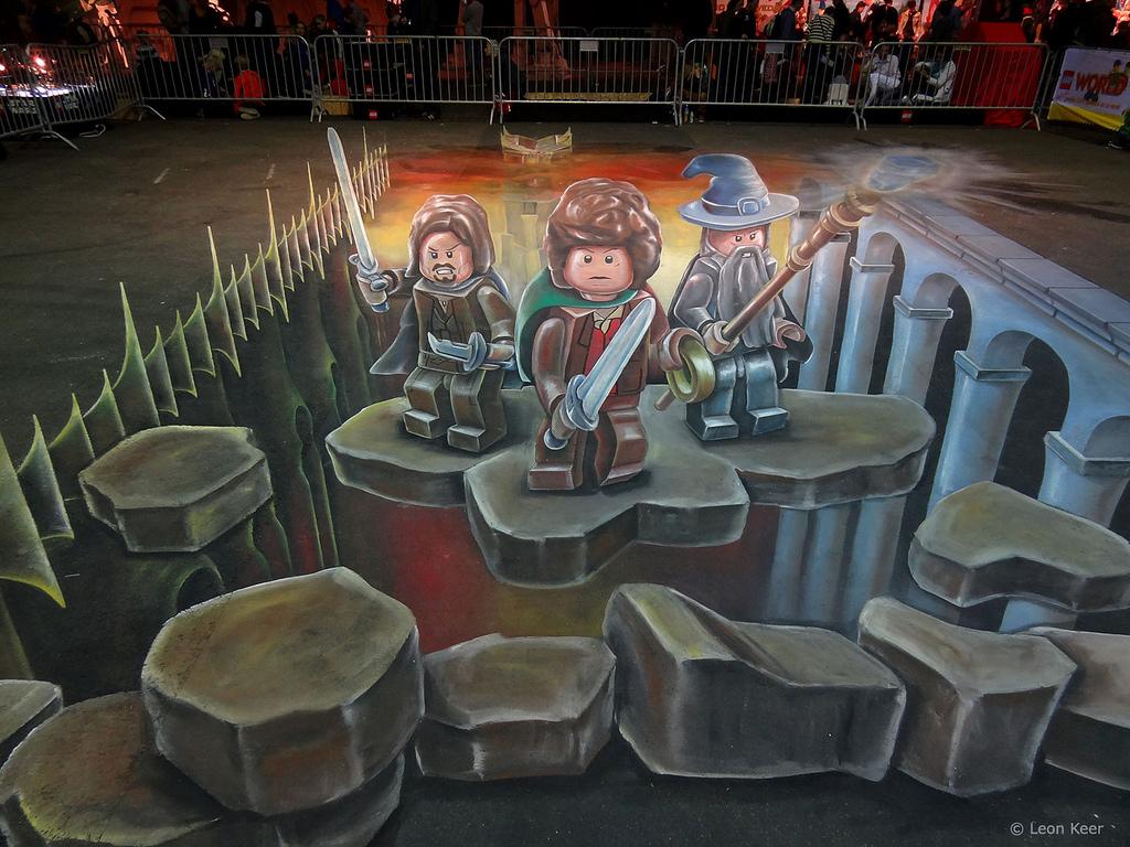 3D street painting Legoworld   3D street painting street ...