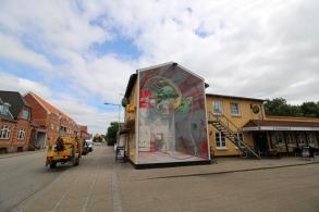 Mural 'Vindkraft' Brande Denmark