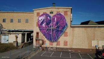 Mural 'Wrapped' in Söderhamn