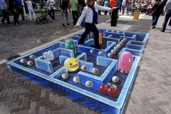 3D streetpainting Pac-Man
