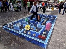 3D streetpainting Pac-Man