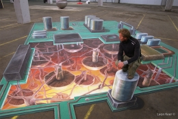 3D street painting Raw Expo Rotterdam