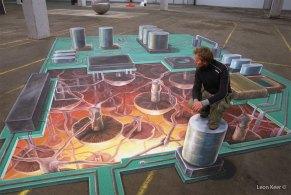 3D street painting Raw Expo Rotterdam