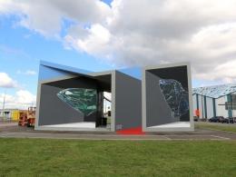 'Redline' 3D mural in Antwerp