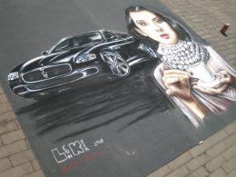 Street painting smaak van Italië by Leon Keer