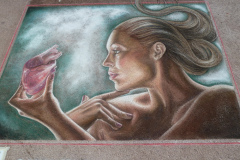 Streetpainting Toulon 2011 made by Leon Keer