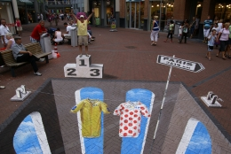 3D street painting Tour de France by Leon Keer