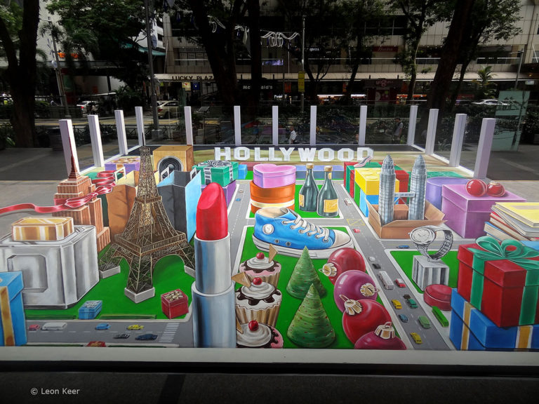 3D street painting Leon Keer Singapore AR