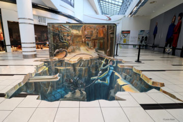 3D Streetpainting Leon Keer Alita Battle Angel