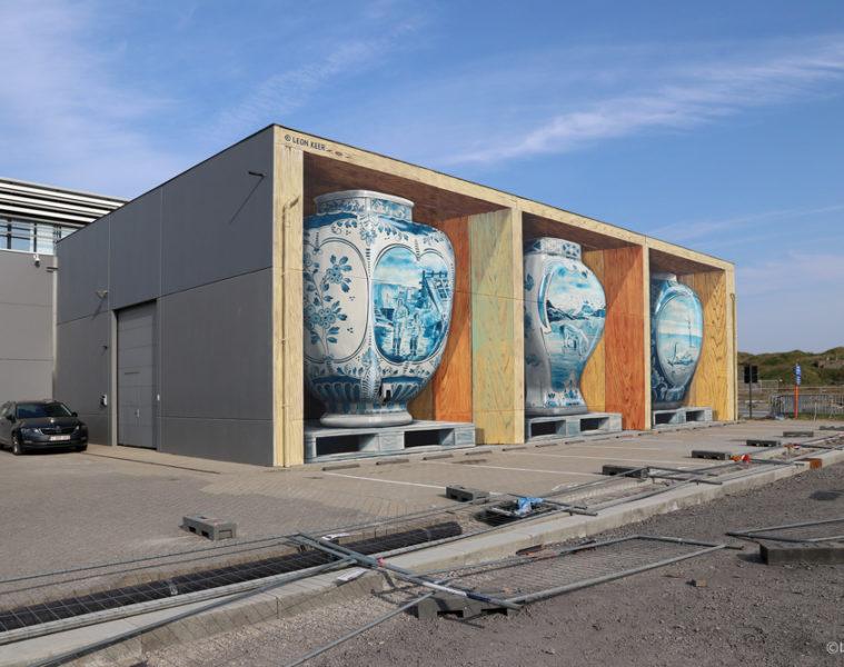 3D mural 'Fragile' crystal ship Ostende Belgium by Leon Keer