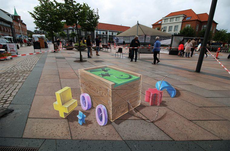3d straatkunst leon keer