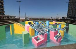 3D streetpainting Knokke-Heist Heldenplein Belgium