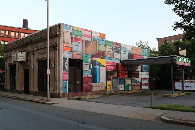 Leon Keer 3D mural wall streetart