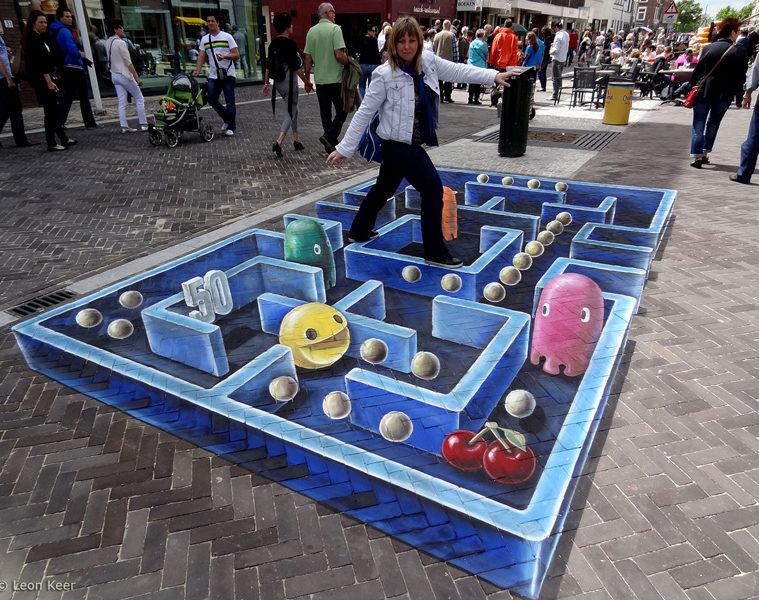 3d-streetart-pacman-leonkeer