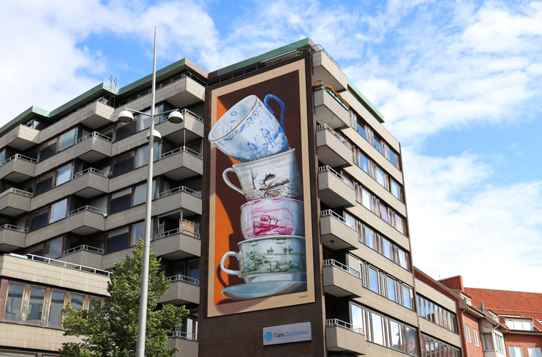 Leon Keer mural Shattering Helsingborg