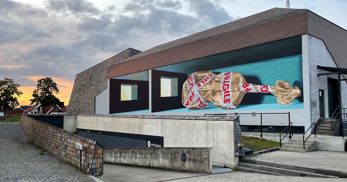 Anamorphic Mural 'Vulnerable' by Leon Keer - Heist-op-den-Berg