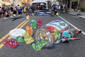 Leon Keer 3D painting Oxycontin gummybears