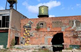 Leon Keer mural Detroit Murals in the Market