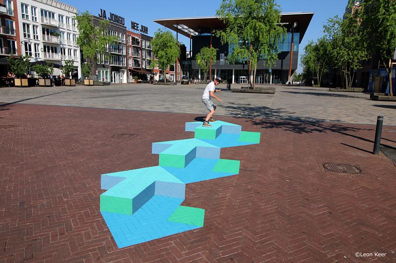 Leon Keer 3D sign Escher museum