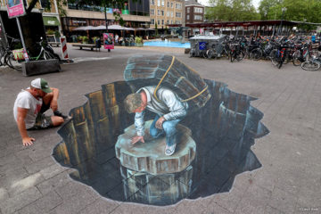 World street painting festival Arnhem by Leon keer