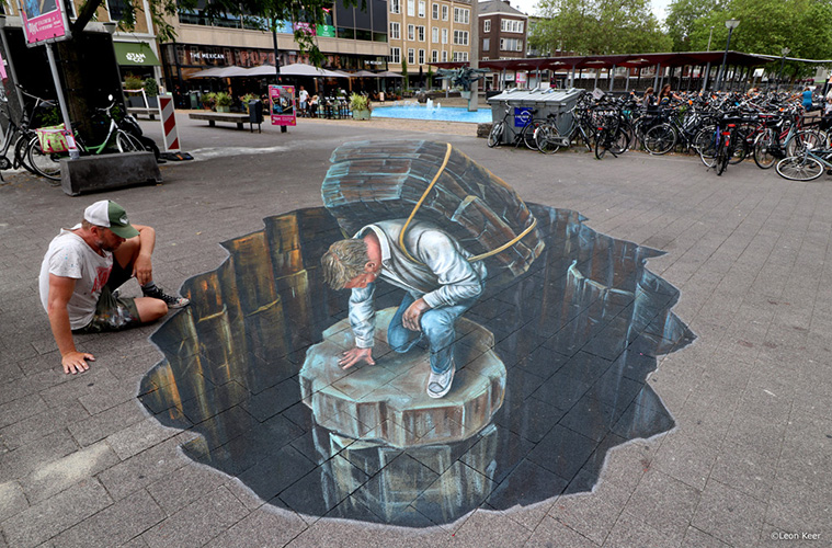 Anamorphic art at World Street Painting Festival Arnhem