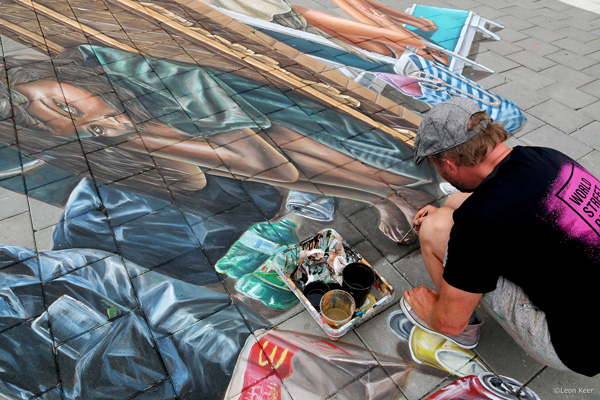 Leon Keer worldstreetpainting festival Arnhem