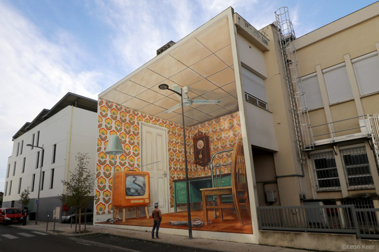 3D Mural by Leon Keer augmented reality