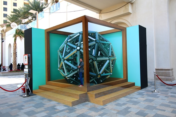3D streetpainting - 3D streetpainting XL - Anamorphic painting - 3d Street Art - Dubai - Leon Keer - straattekening - straatkunst