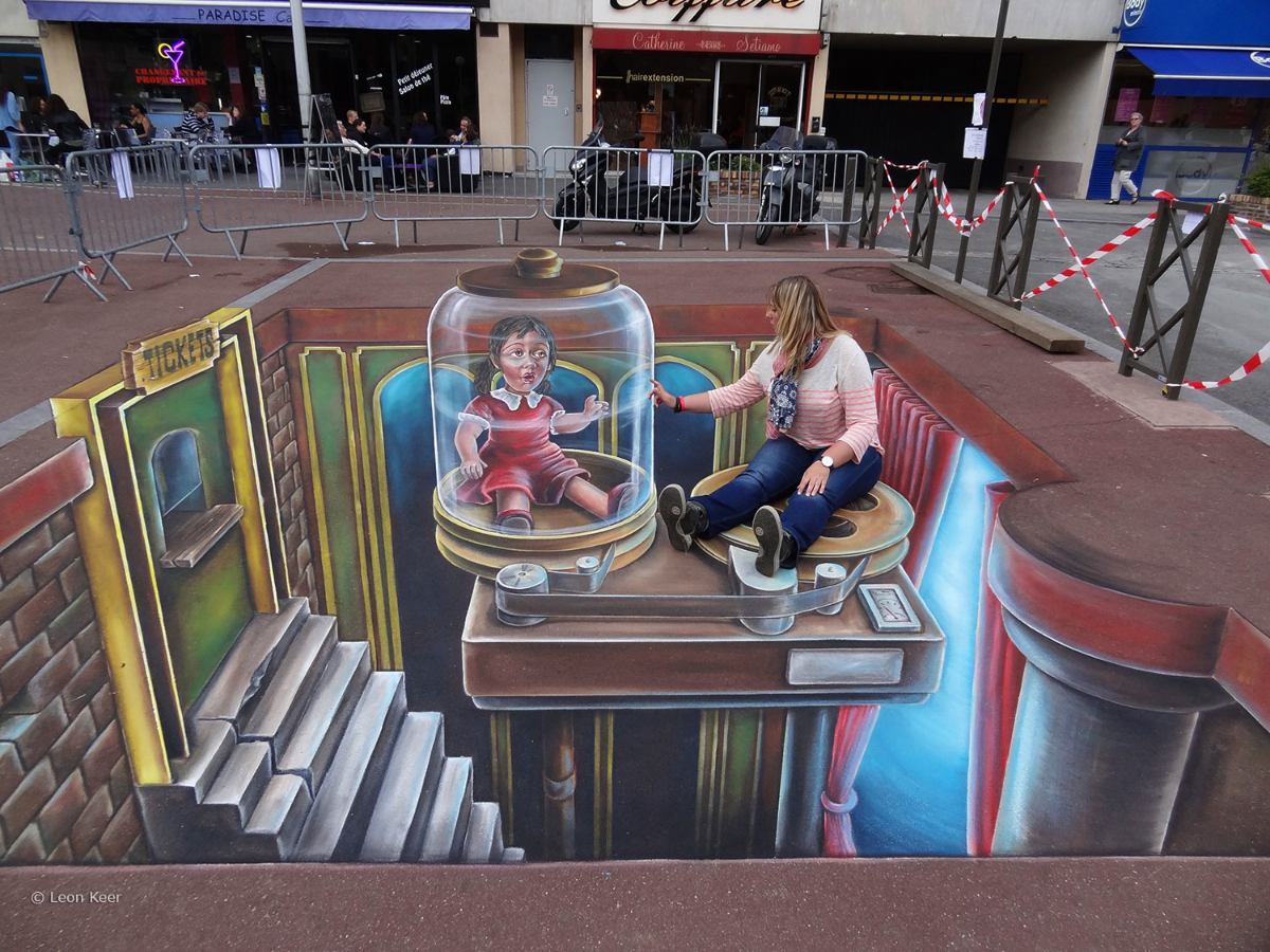 3D Streetart ZAP Paris 3D street painting street art by