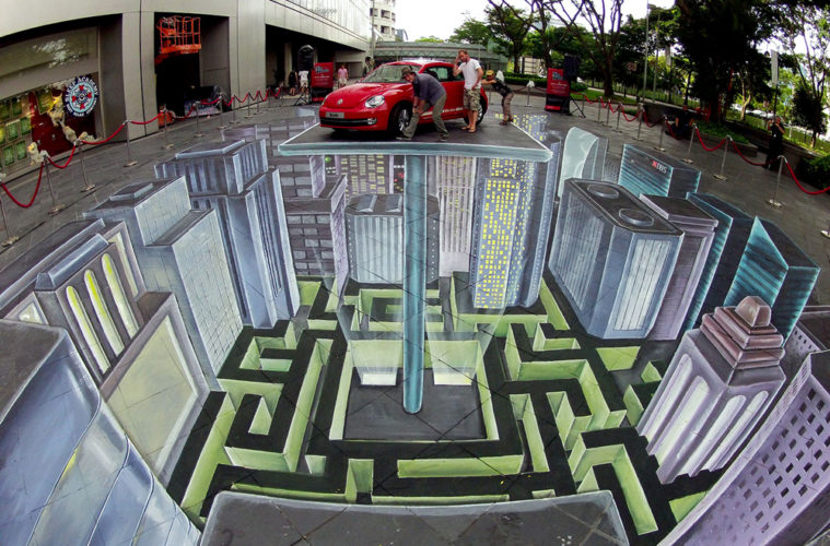 3d street painting in singapore 3d street painting street art by