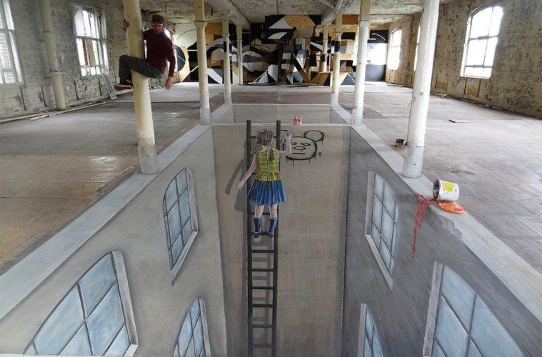 cons space 002 berlin 3d streetart 3d street painting street art
