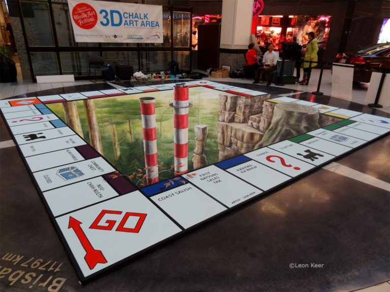3D streetpainting - 3D streetpainting XL - Anamorphic painting - 3d Street Art - Aruba - Leon Keer - straattekening - straatkunst