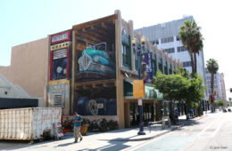 Pow Wow Long Beach Mural by Leon Keer