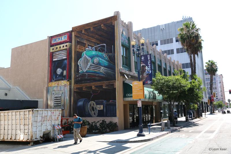 Pow Wow Long Beach Mural by Leon Keer